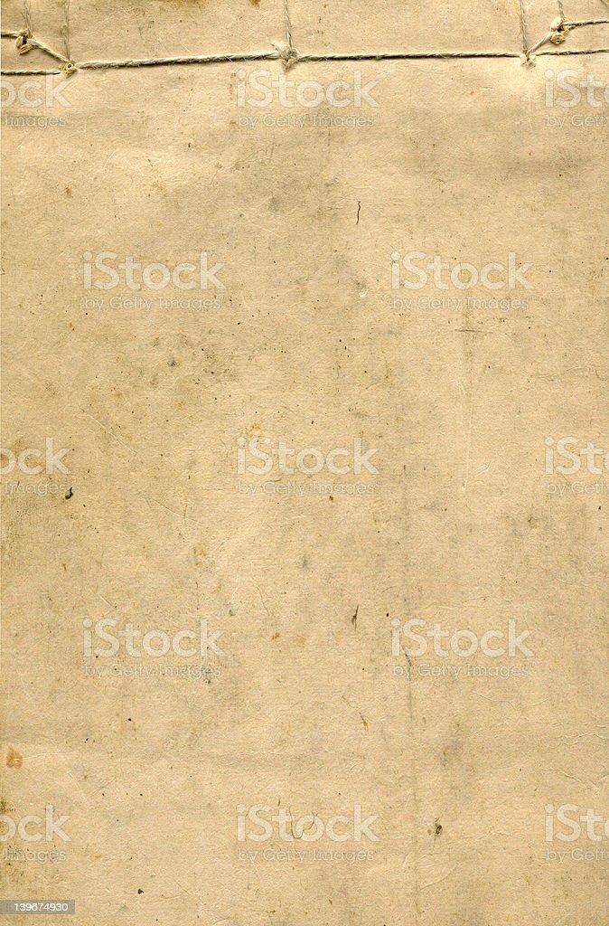 Vieux Papier de riz Couverture de livre avec bordure à cordes photo libre de droits