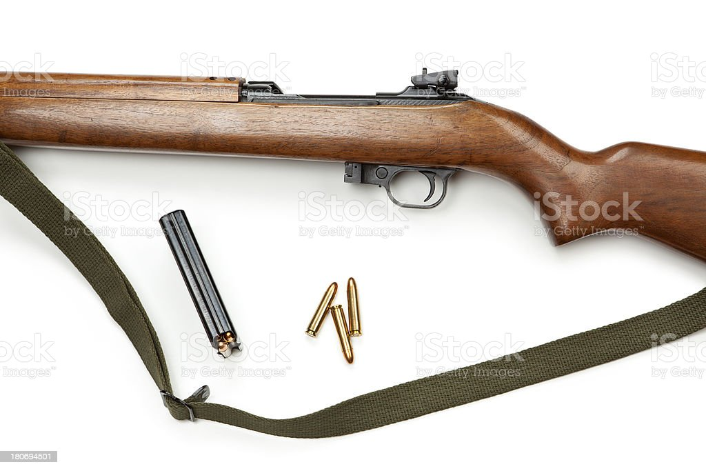 Old Rifle and Bullets stock photo