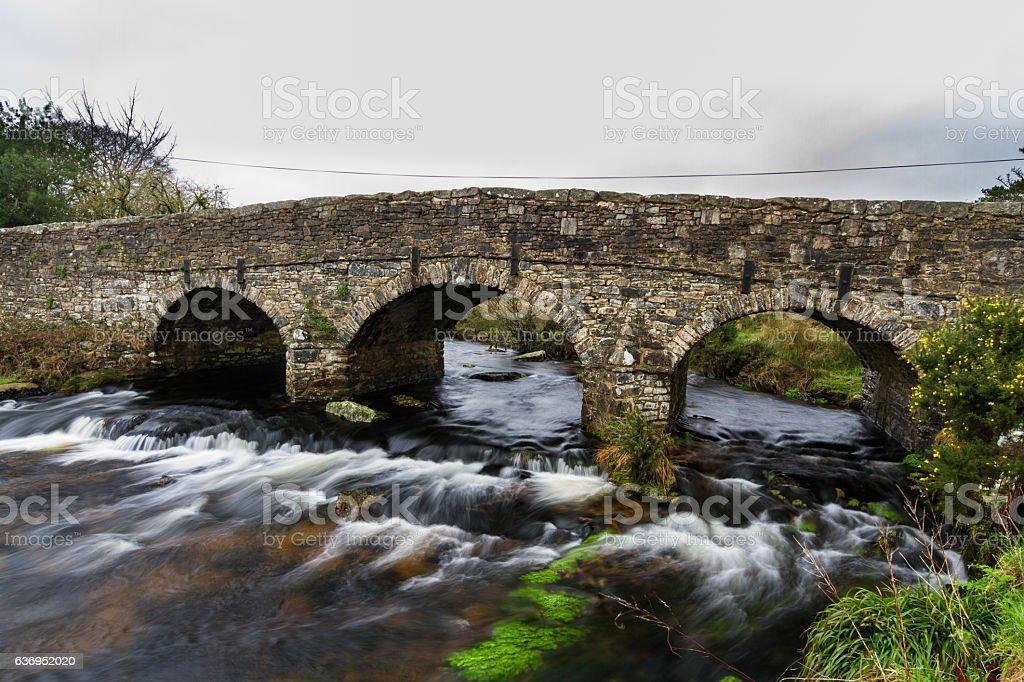 Old Road bridge stock photo