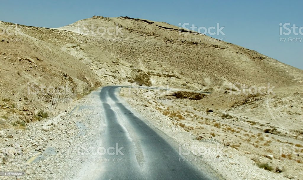 Old Road from Jericho to Jerusalem, Israel royalty-free stock photo