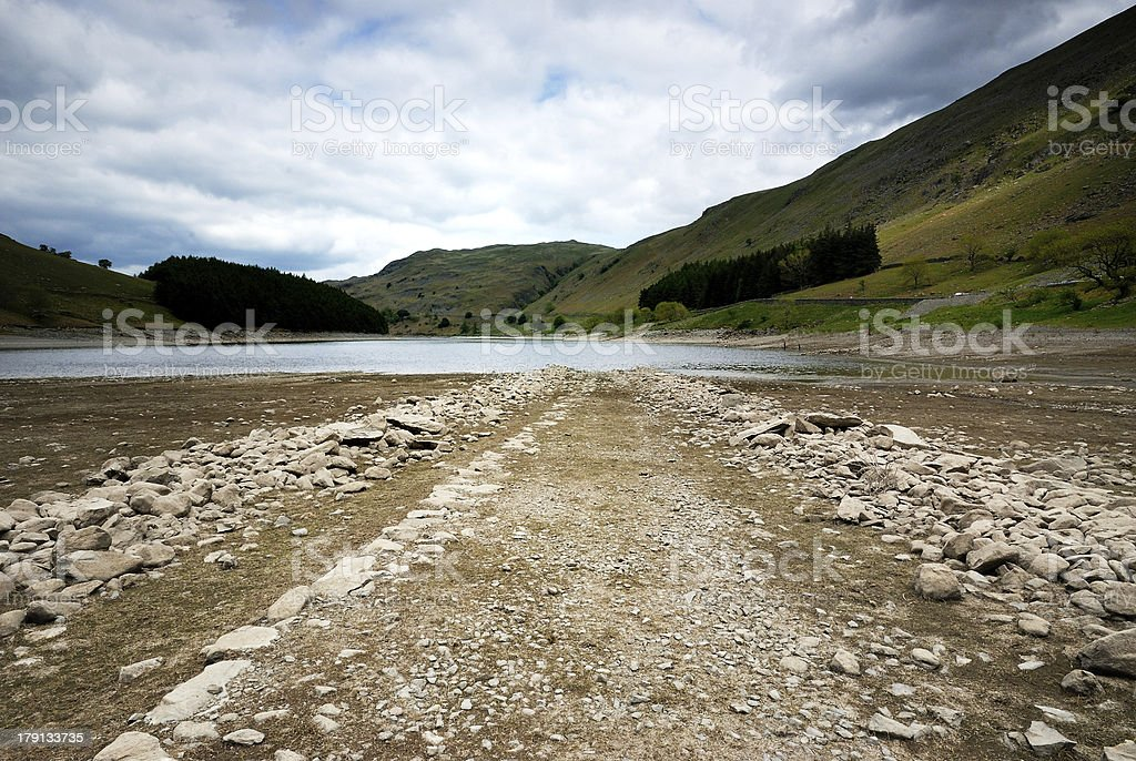 Old Road in the Lake royalty-free stock photo