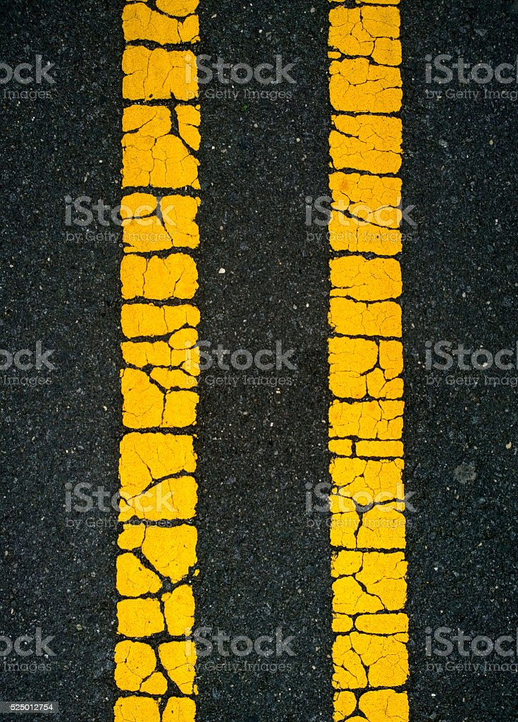 Old Road Lines stock photo