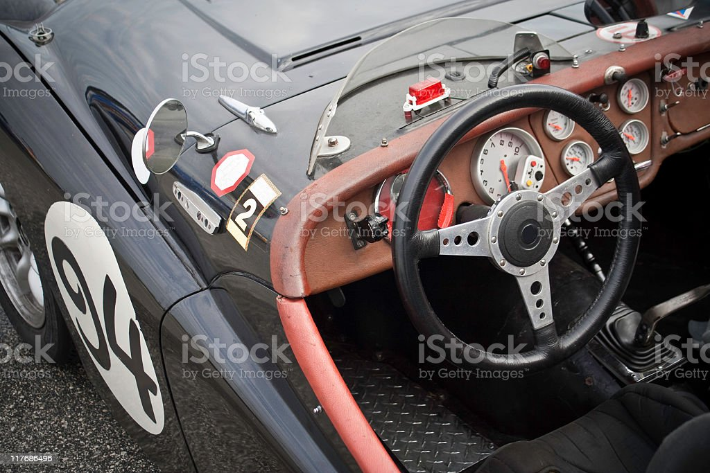 Old Roadster Dashboard stock photo