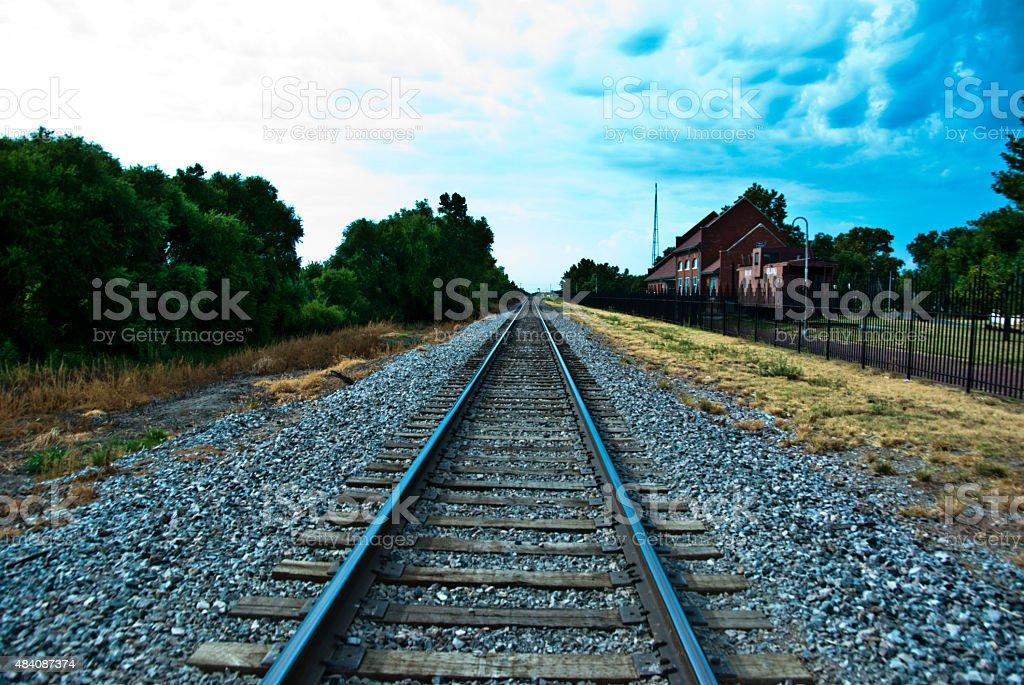 Old Rock Island Line stock photo