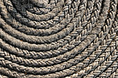 Old rolled up rope from above