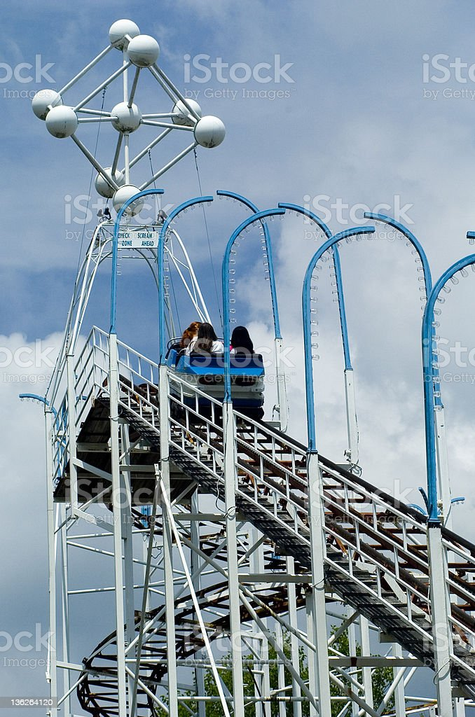 Old Roller Coaster royalty-free stock photo