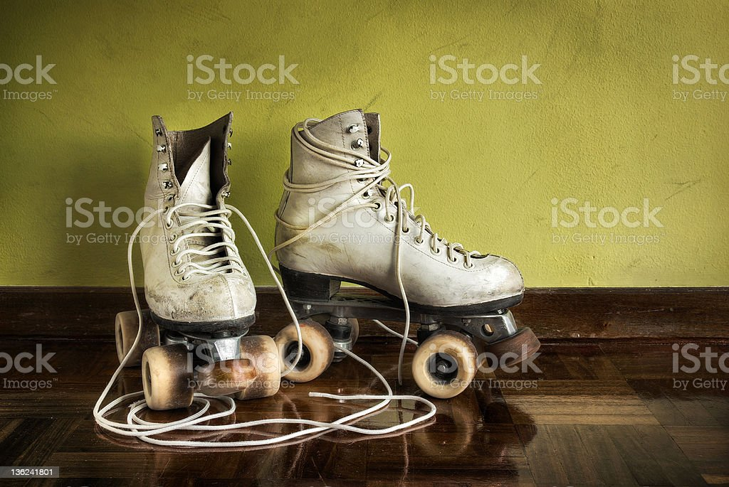 Old Roller-Skates stock photo
