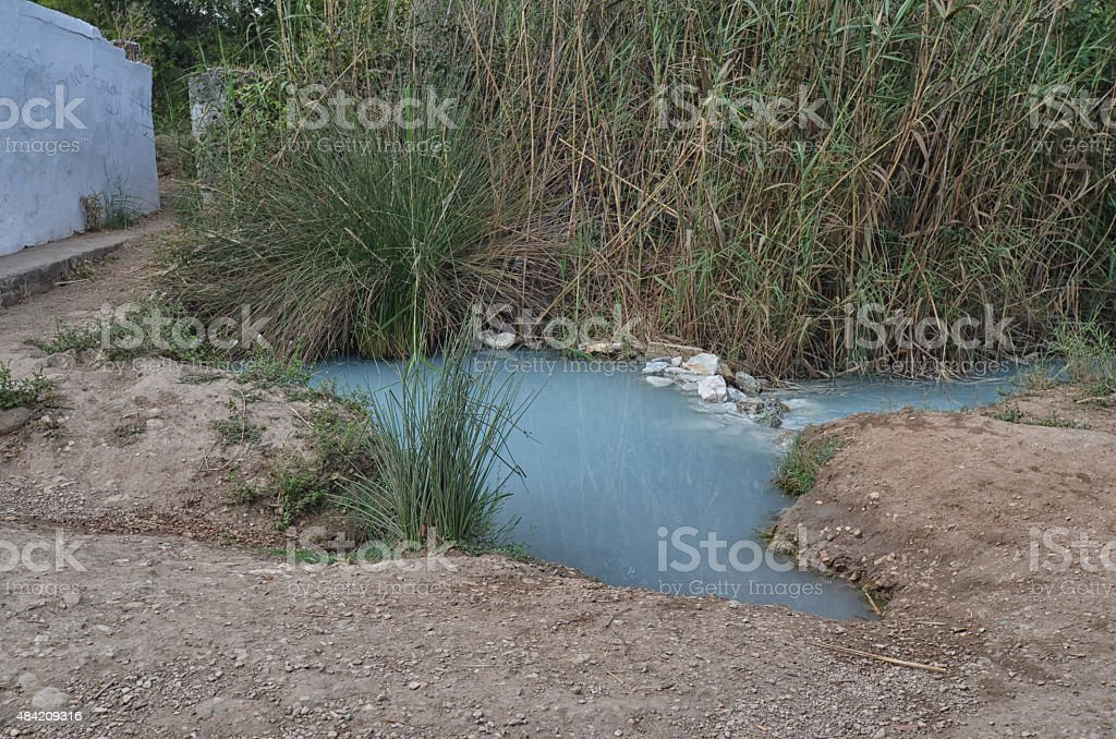 Old Roman baths in Andalusia stock photo