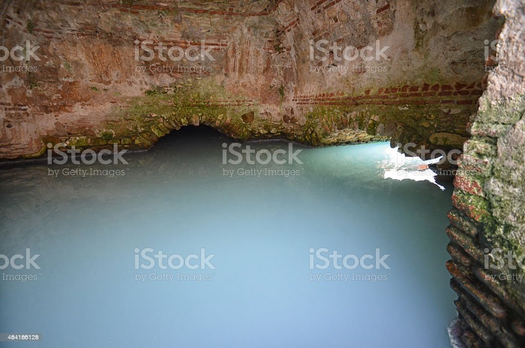 Old Roman baths in Spain stock photo
