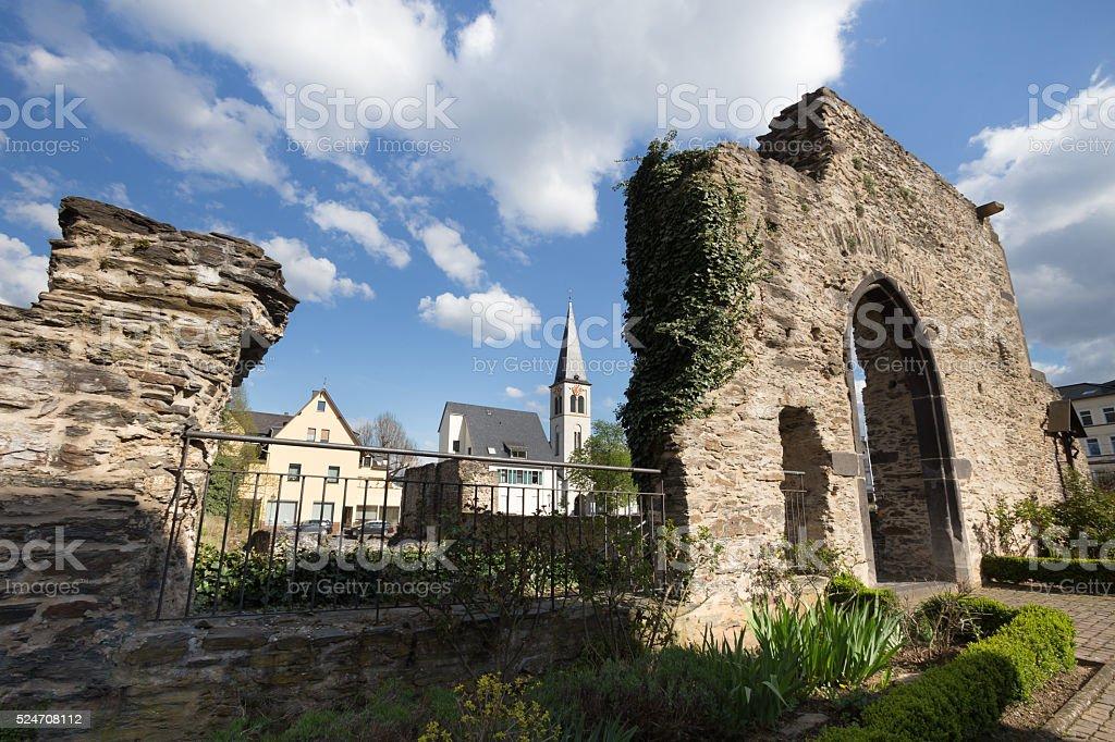 old roman castell boppard germany stock photo