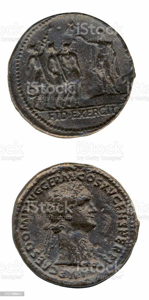 Old Roman Coins royalty-free stock photo
