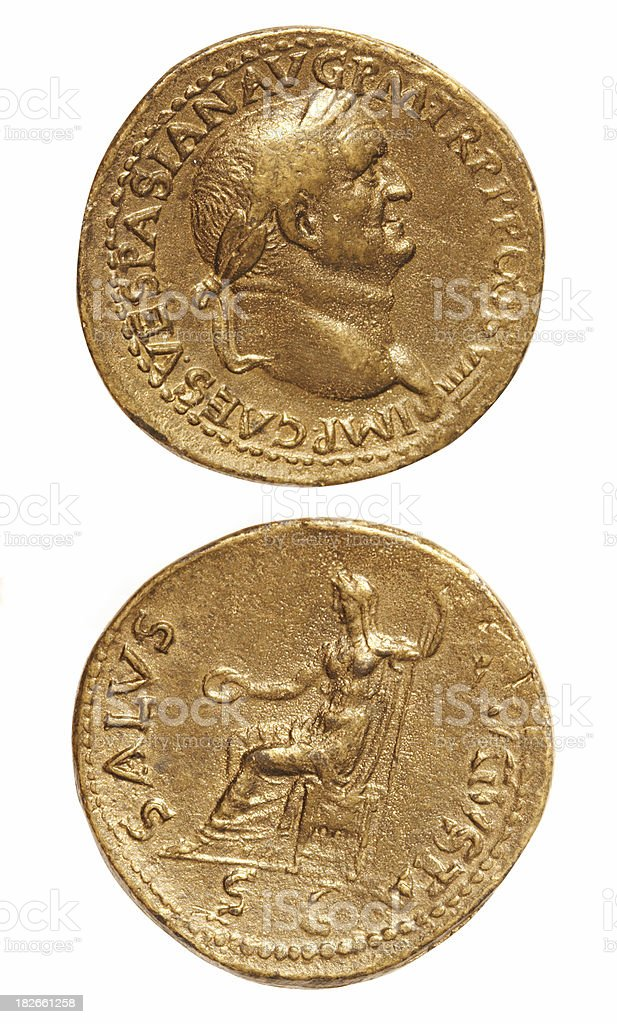 Old Roman Coins stock photo