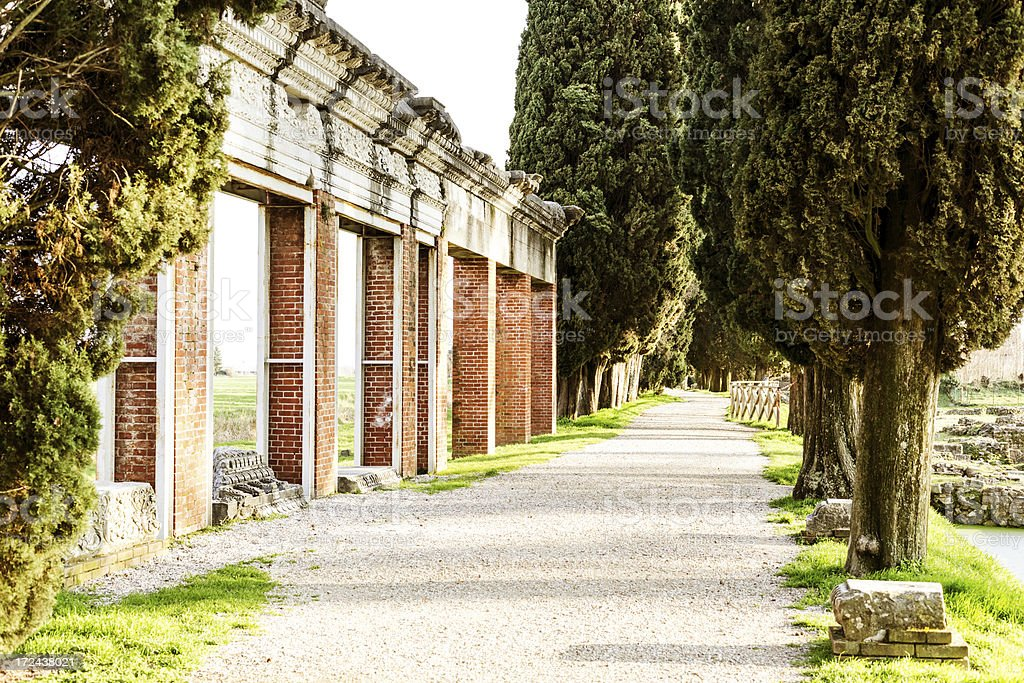 Old Roman Harbor of Aquileia royalty-free stock photo