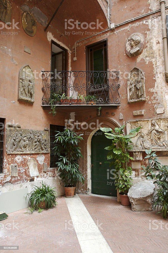 Old roman house stock photo