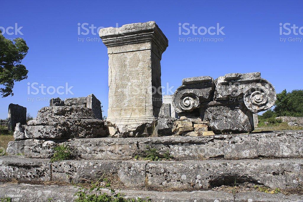 Old Roman settlement stock photo