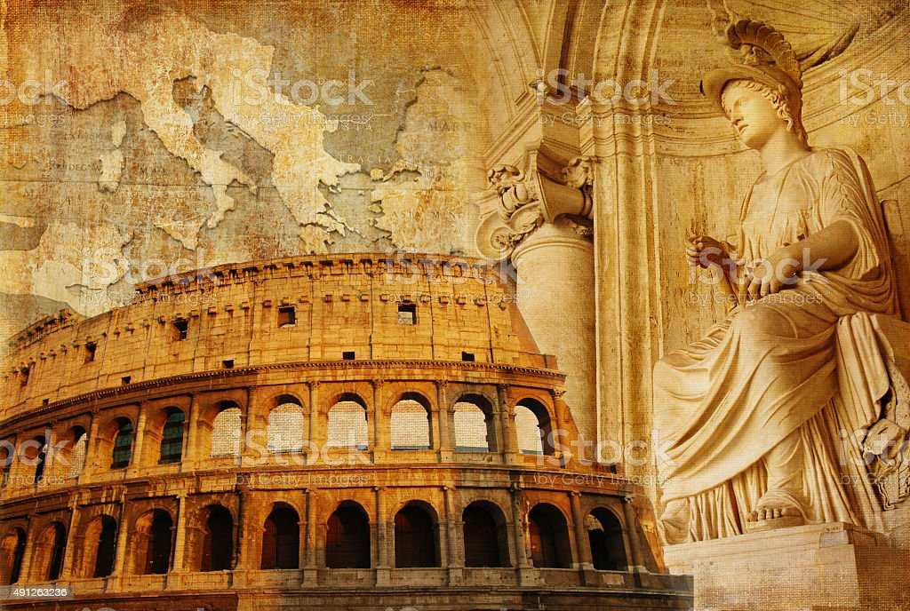 Old Rome,Italy. stock photo