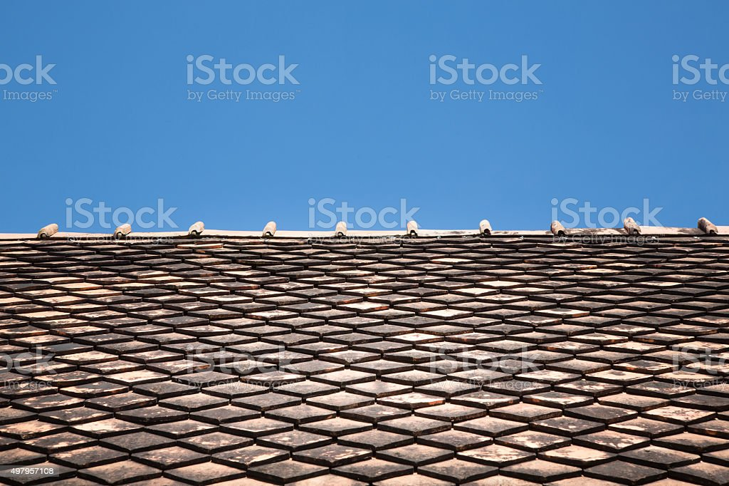 old roof detail stock photo