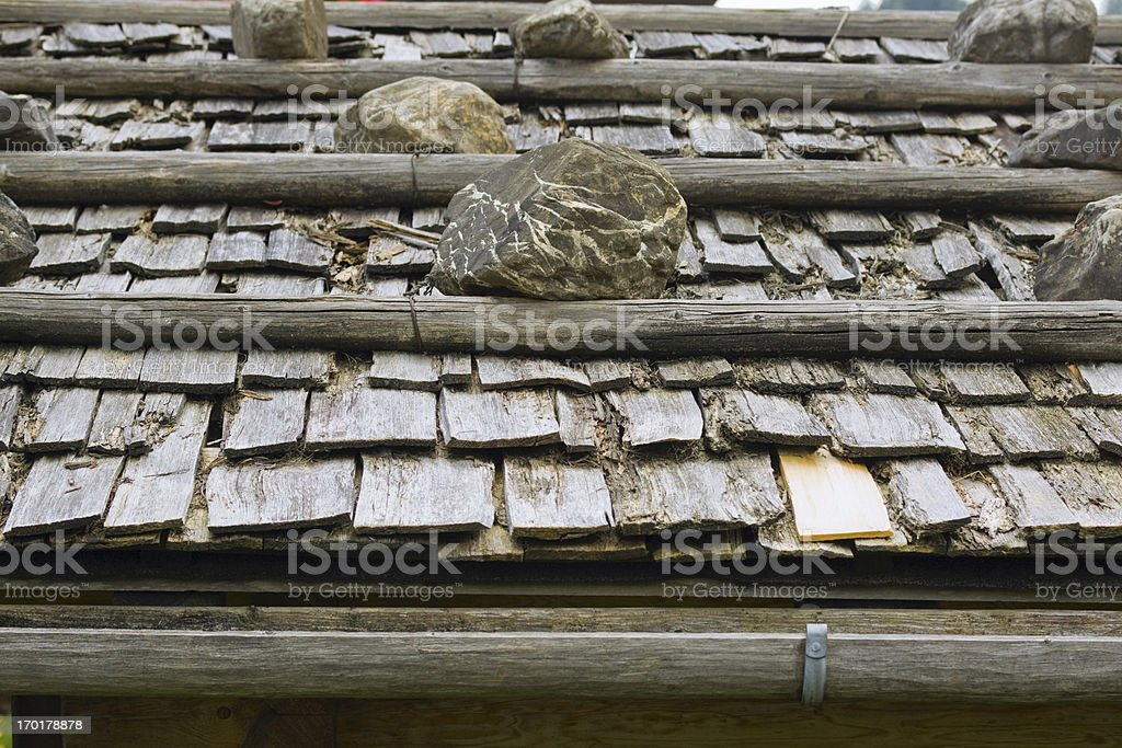 Old roof in Bavaria, Allgäu royalty-free stock photo