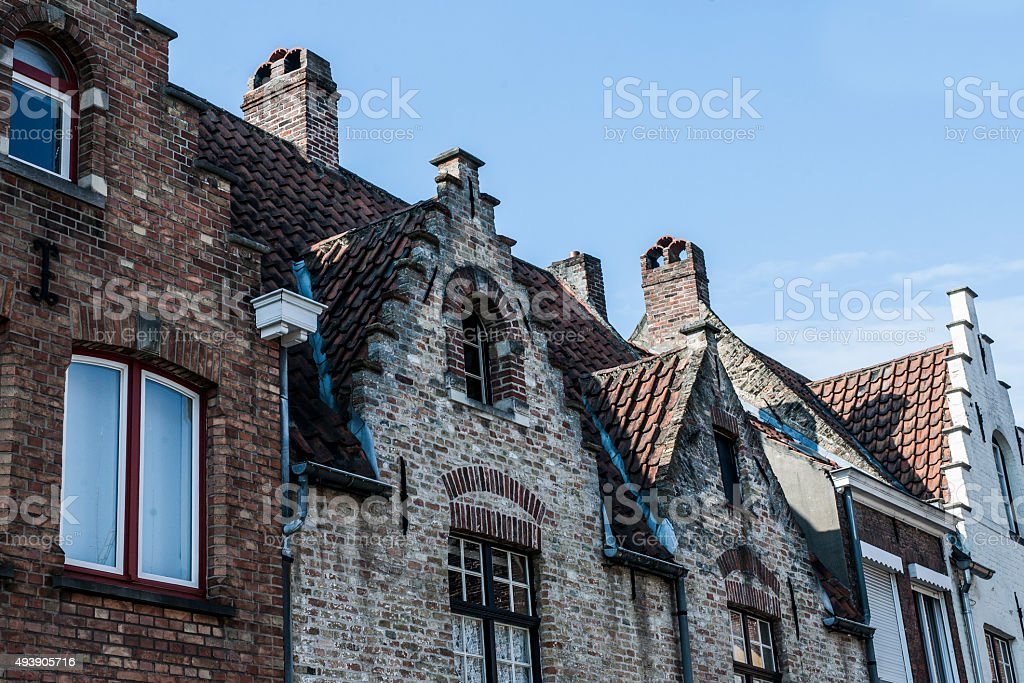 Old Roof In Brugge stock photo
