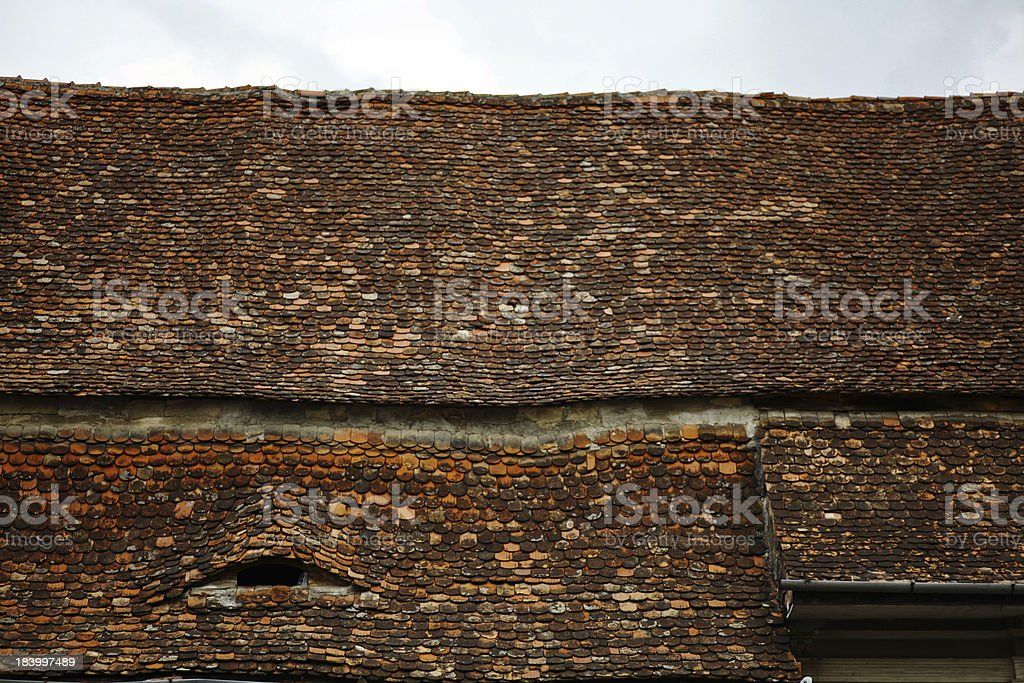Old roof royalty-free stock photo