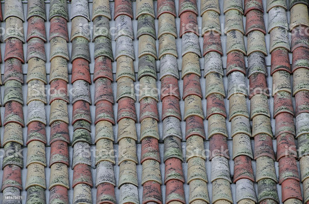 Old roof shingles royalty-free stock photo