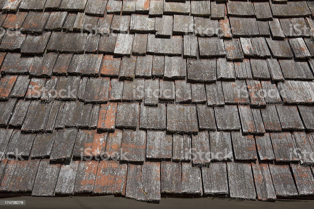 Old Roofing Rustic Weathered Cedar Shake Roof Shingles Need Replacement  Stock Photo 174706279 | IStock
