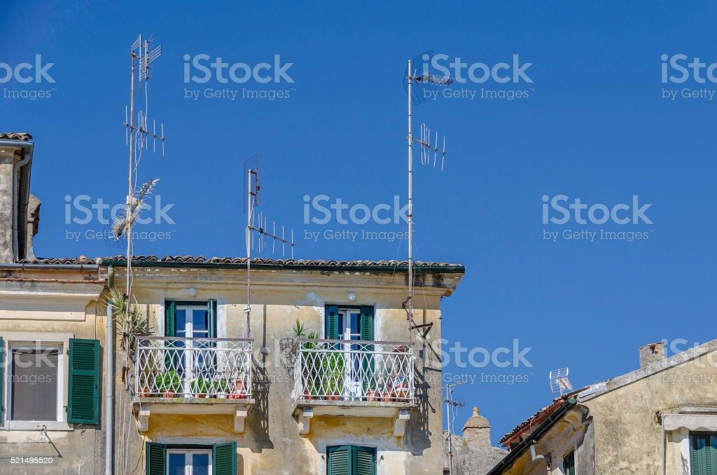 Old Rooftops of Corfu stock photo
