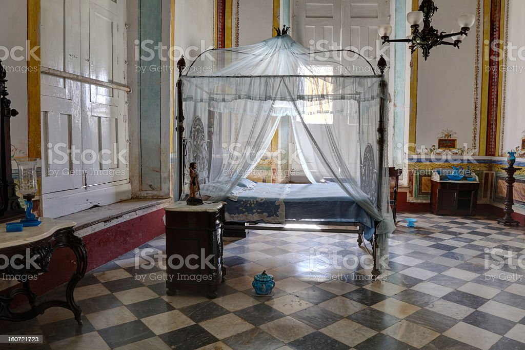 Old room in Trinidad stock photo