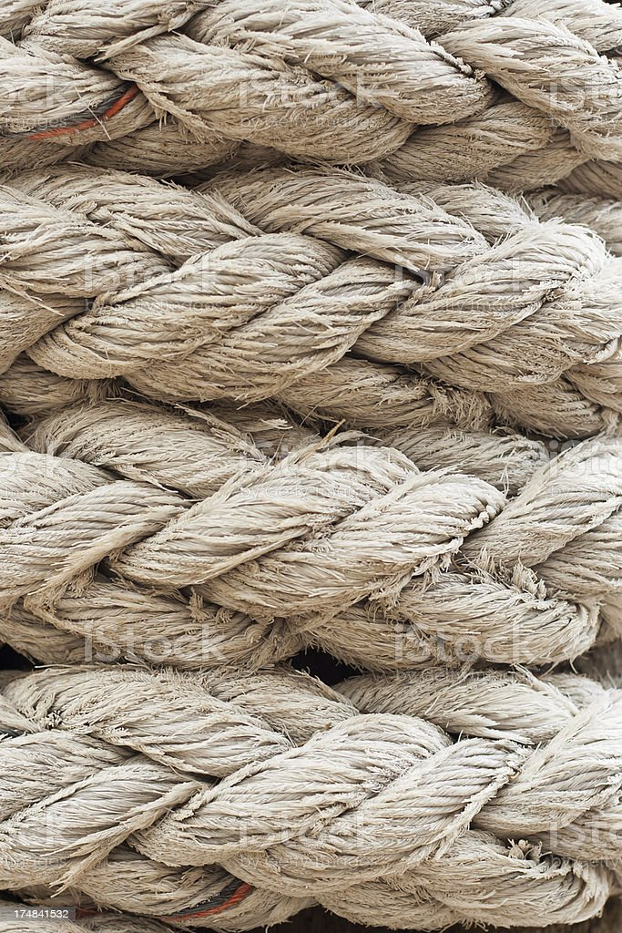 Old rope closeup royalty-free stock photo