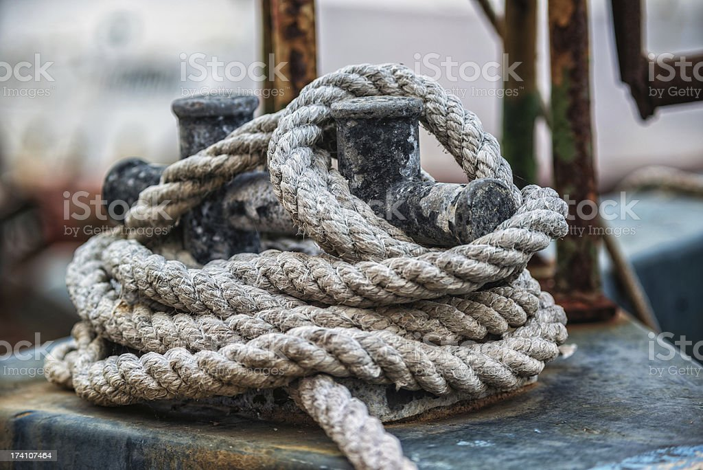 old rope royalty-free stock photo