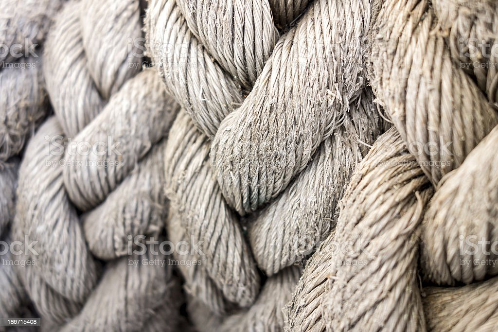 Old Ropes stock photo