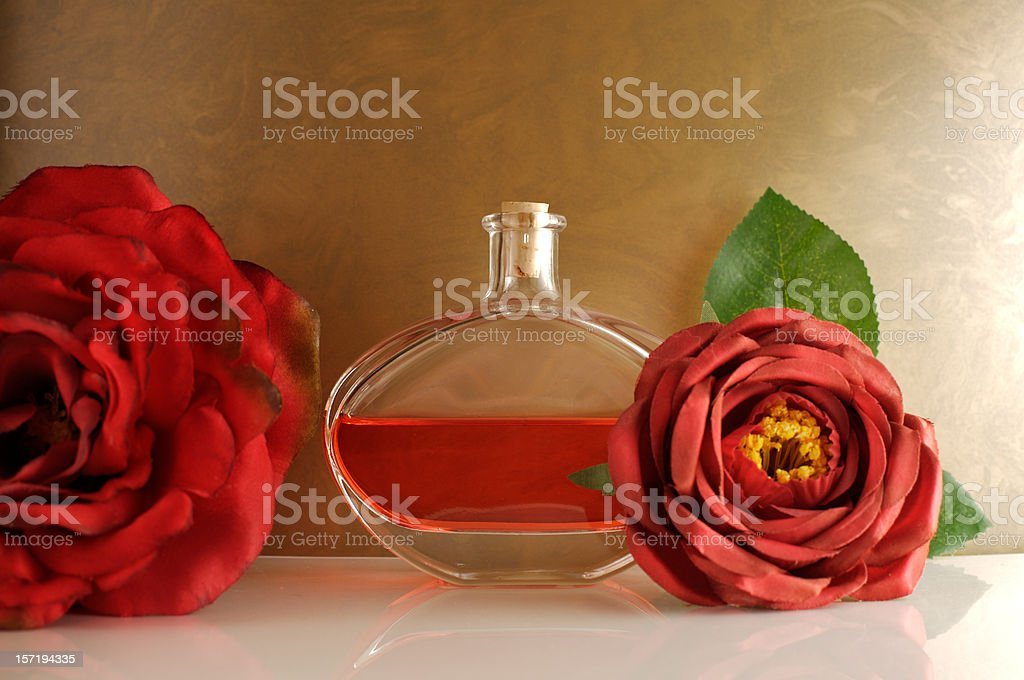 Old roses fragrance stock photo
