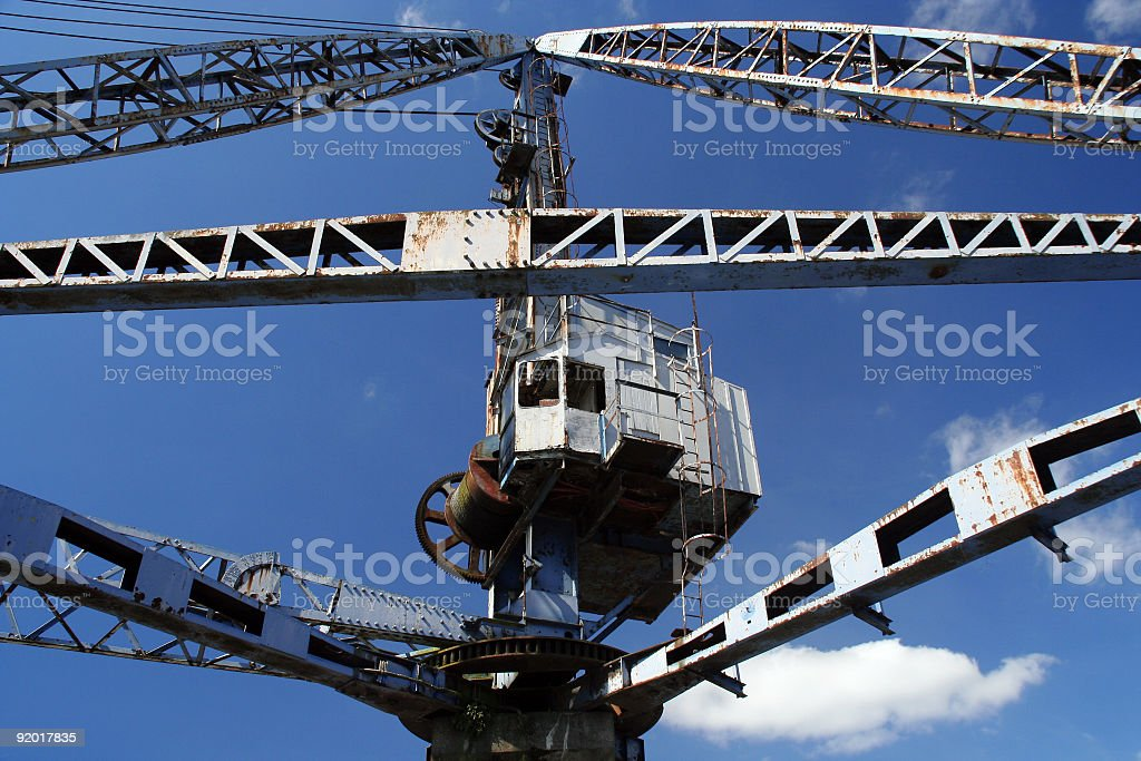 old rotary crane royalty-free stock photo