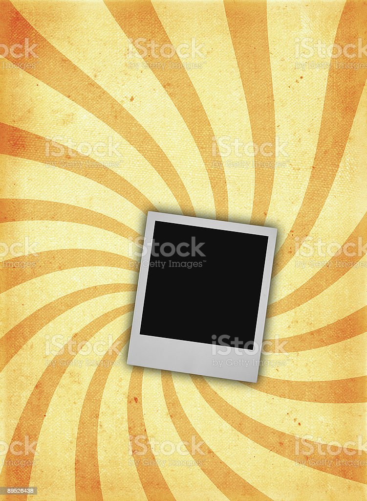 old ROUGH paper page with photo frame royalty-free stock photo