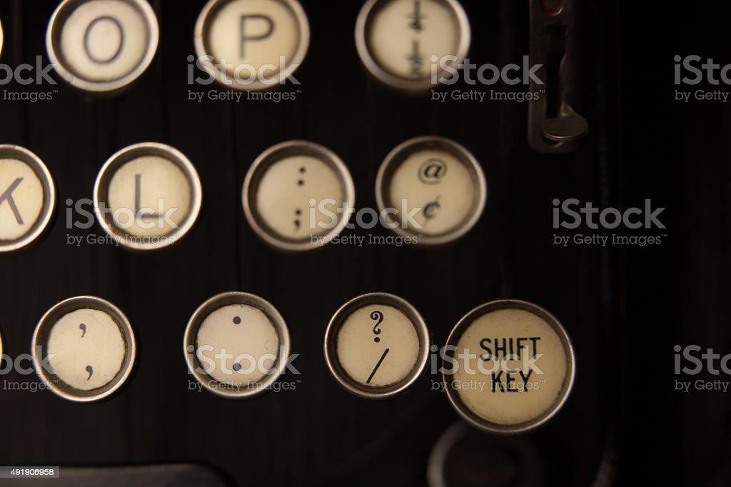 Old Round Type Keys stock photo