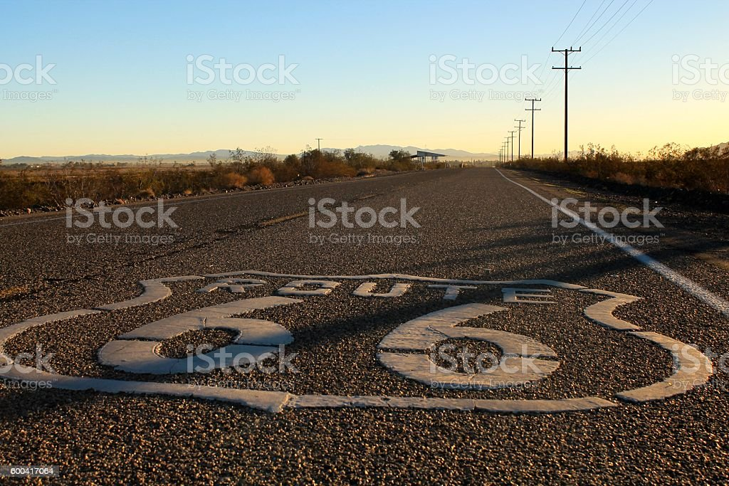 Old Route 66 in California stock photo