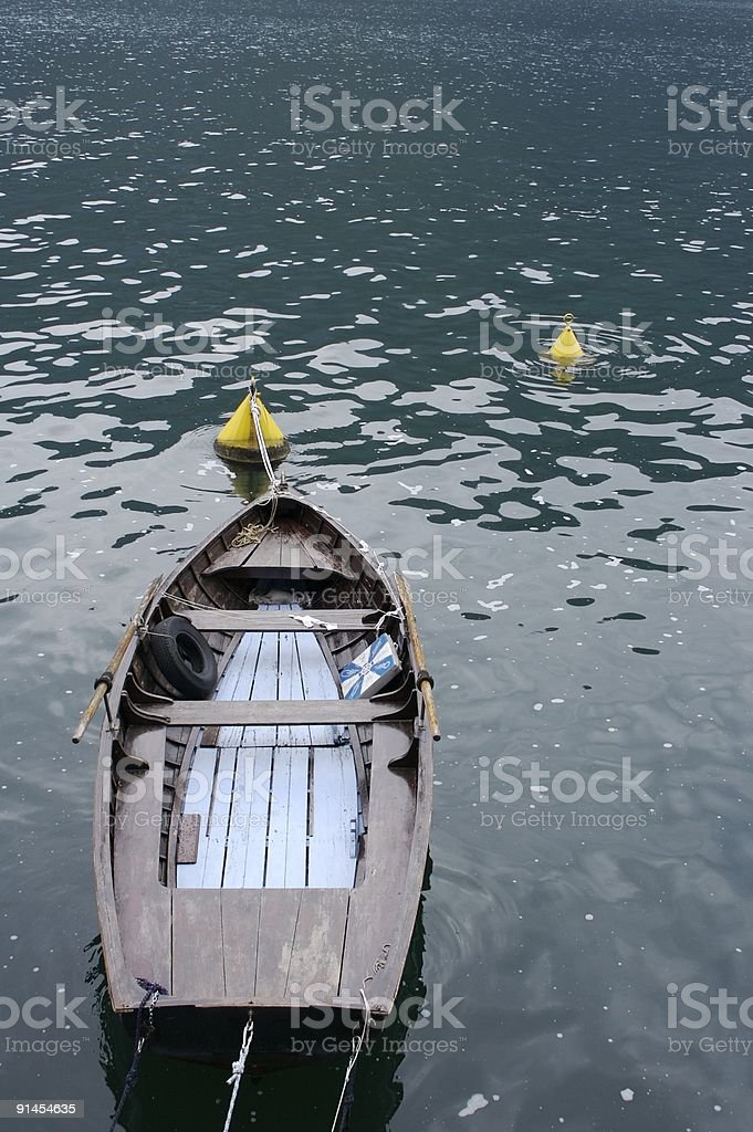 old row boat royalty-free stock photo