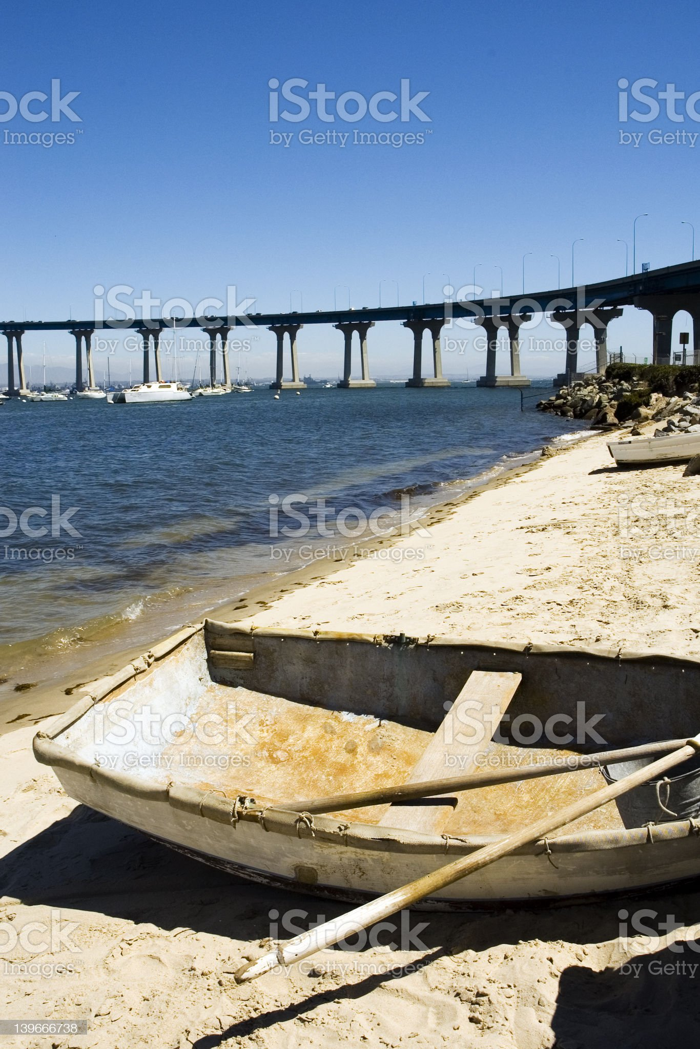old rowboat on a shore royalty-free stock photo