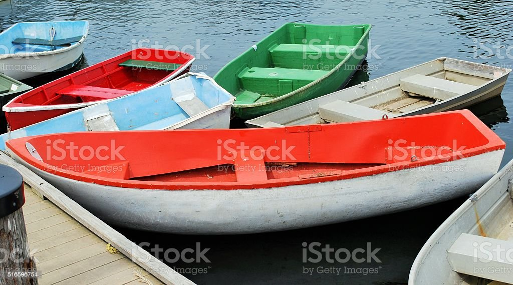 Old Rowboats stock photo