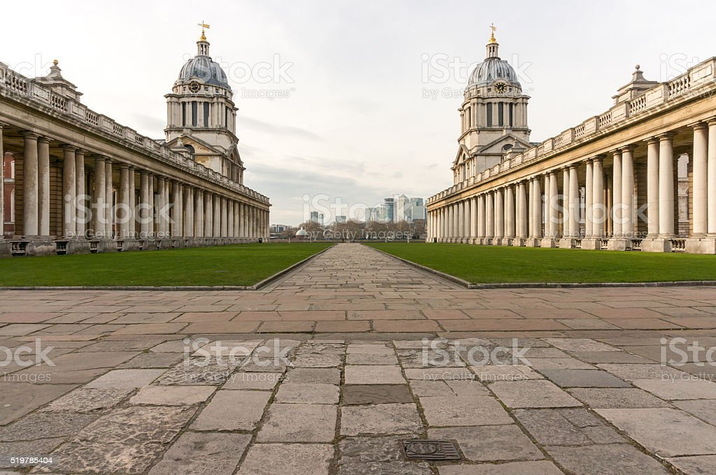 Old Royal Naval College, Greenwich, London stock photo