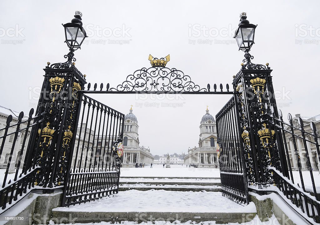 Old Royal Naval College royalty-free stock photo