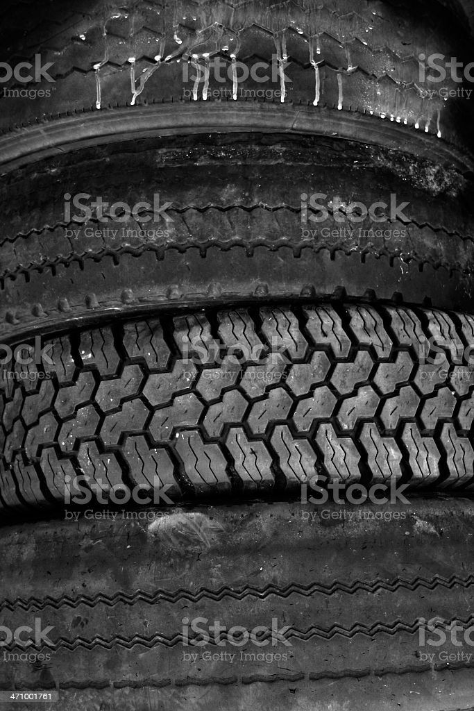 Old Rubber Tires stock photo