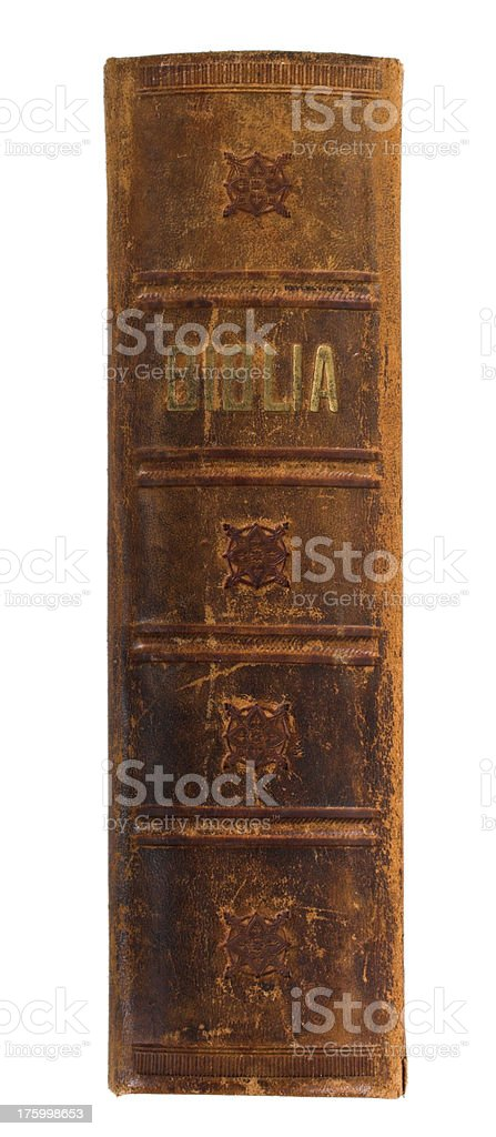 Old rugged bible stock photo