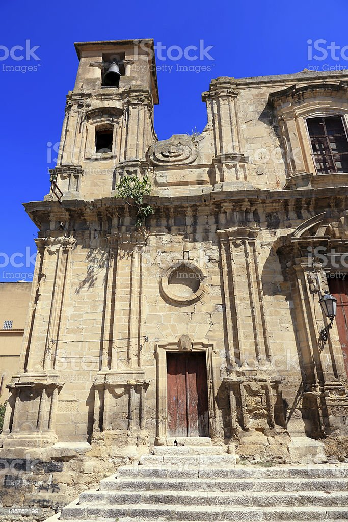 Old ruin church in Corleone royalty-free stock photo