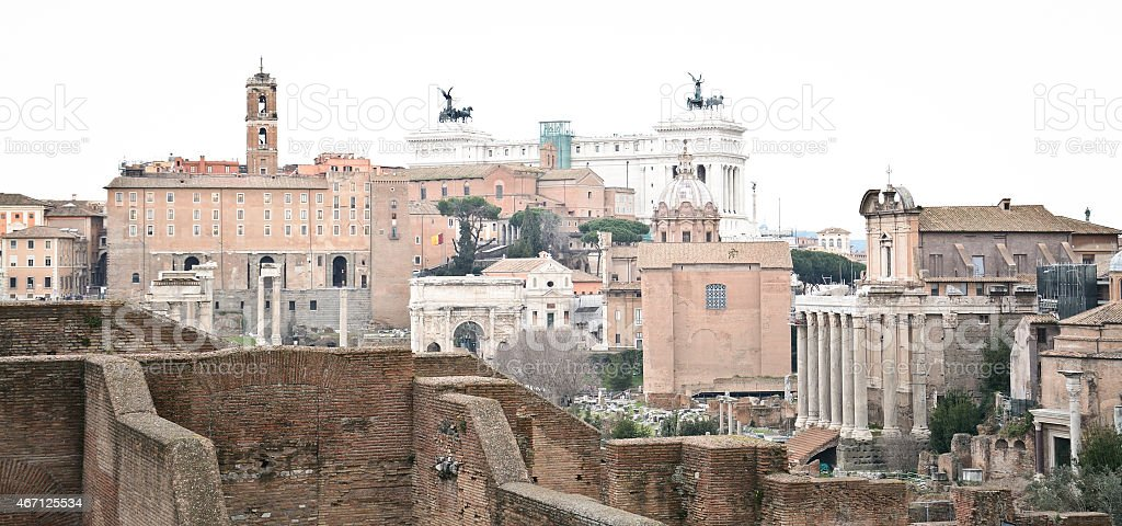 Old ruin in Rome stock photo