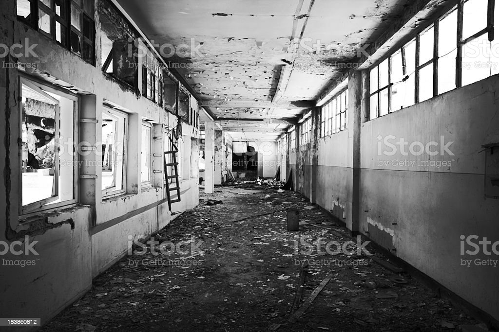 Old ruined hall royalty-free stock photo