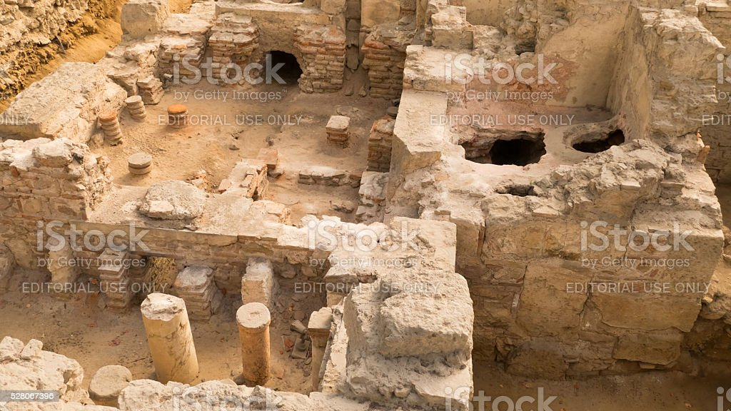 Old ruins in Athens, Greece stock photo