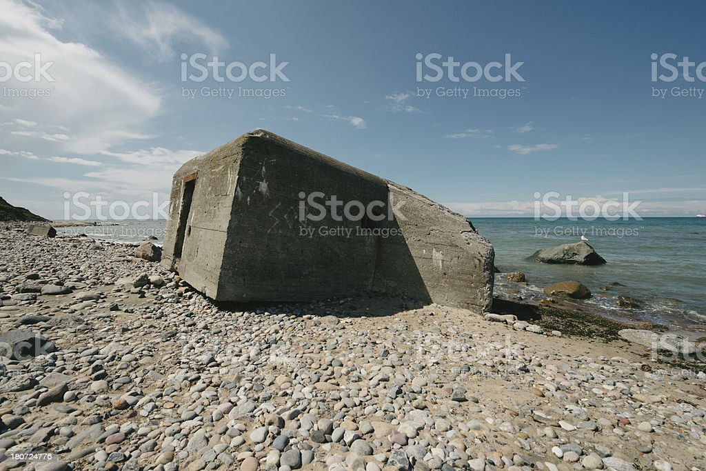 Old ruins of bunker royalty-free stock photo