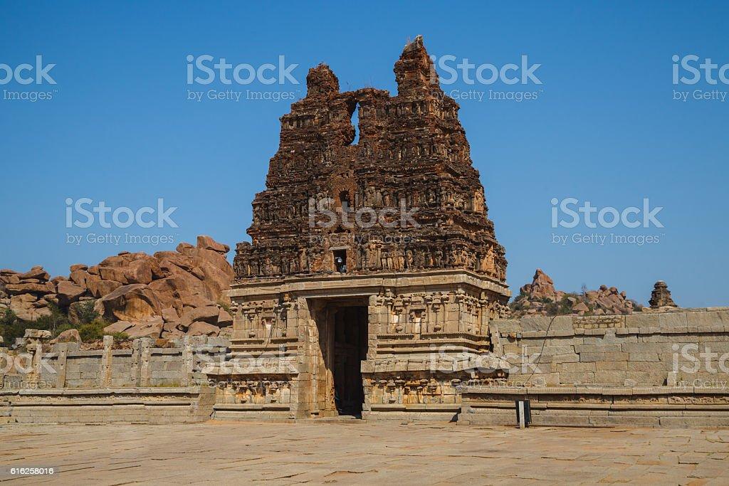 Old ruins of Hampi, Karnataka, India stock photo