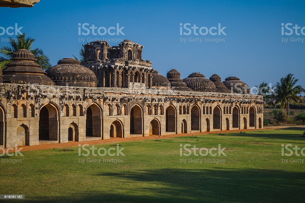 Old ruins of Hampi, Karnataka, India stock photo